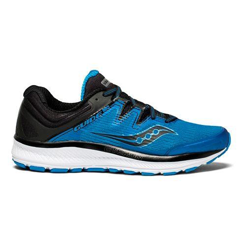 Mens Saucony Guide ISO Running Shoe - Blue/Black 12
