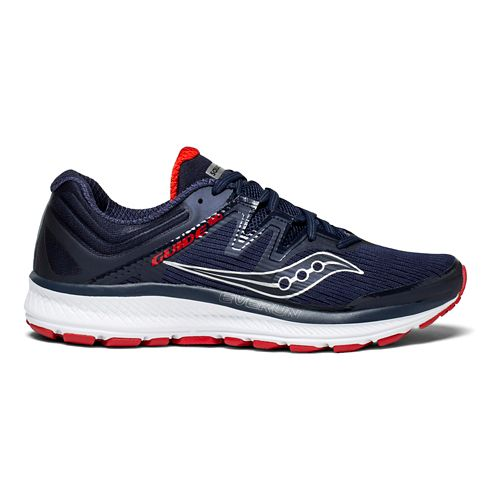 Mens Saucony Guide ISO Running Shoe - Navy/Red 7.5