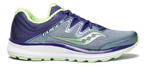 Womens Saucony Guide ISO Running Shoe - Fog/Purple 9.5