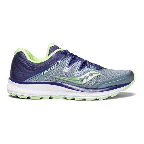 Womens Saucony Guide ISO Running Shoe - Fog/Purple 10.5