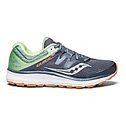 Womens Saucony Guide ISO Running Shoe - Grey/Mint/Orange 10