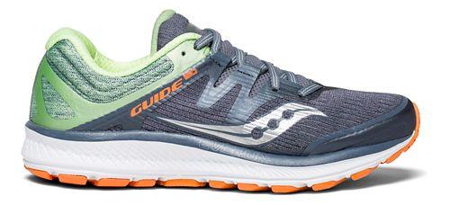 Womens Saucony Guide ISO Running Shoe - Grey/Mint/Orange 12