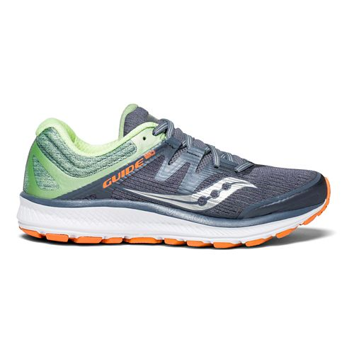 Womens Saucony Guide ISO Running Shoe - Grey/Mint/Orange 5