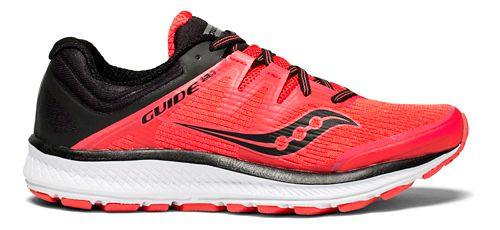 Womens Saucony Guide ISO Running Shoe - Red/Black 5.5