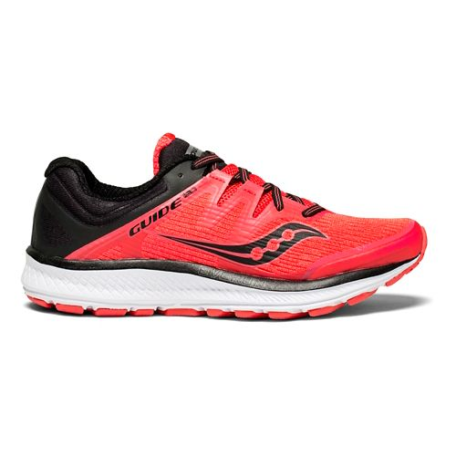 Womens Saucony Guide ISO Running Shoe - Red/Black 7.5