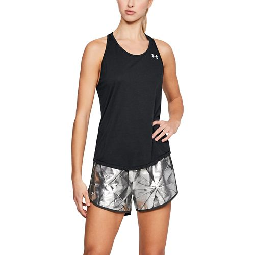 Womens Under Armour Threadborne Swyft Racer Sleeveless & Tank Technical Tops - Black S