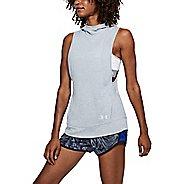 Womens Under Armour Threadborne Swyft Pullover Vests Jackets - Heather/Tokyo Lemon XL