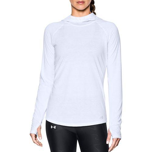 Womens Under Armour Threadborne Streaker Half-Zips & Hoodies Technical Tops - White L