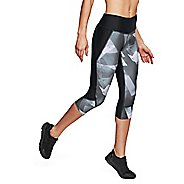 Womens Under Armour Fly Fast Printed Capris Pants - Black M
