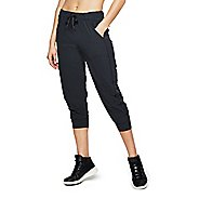 Womens Under Armour Woven Supply Ankle Storm Crop Pants - Black L
