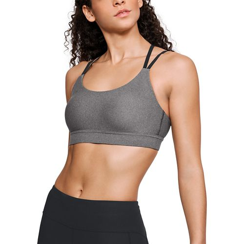 Womens Under Armour Balance Eclipse Low Heather Sports Bras - Charcoal L