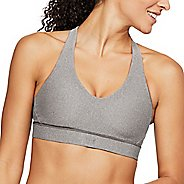 Womens Under Armour Balance Mid Heather Sports Bras - Charcoal XL