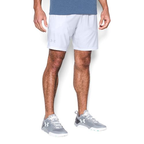 Mens Under Armour Cage Unlined Shorts - White L