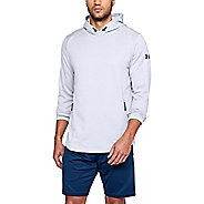 Mens Under Armour Tech Terry Popover Half-Zips & Hoodies Technical Tops - White/Graphite L