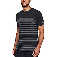 Mens Under Armour Sportstyle Stripe Short Sleeve Technical Tops