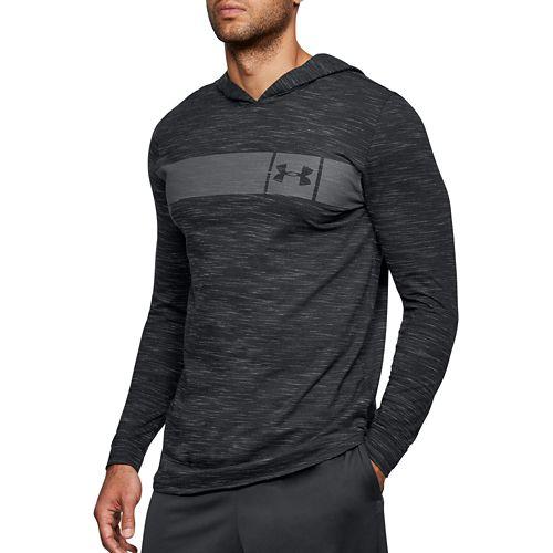 Mens Under Armour Sportstyle Core Half-Zips & Hoodies Technical Tops - Black/Graphite M