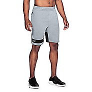 Mens Under Armour Tech Terry Unlined Shorts - Steel/Black S