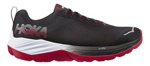 Mens Hoka One One Mach Running Shoe - Black/Red 9