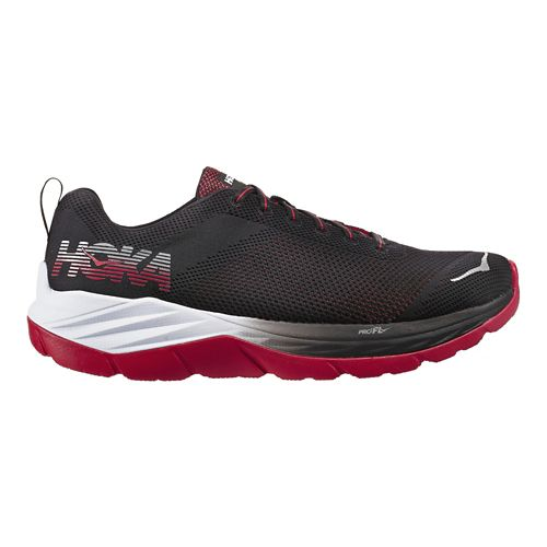 Mens Hoka One One Mach Running Shoe - Black/Red 10
