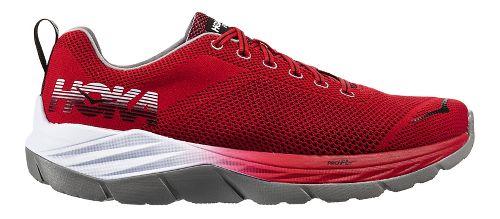 Mens Hoka One One Mach Running Shoe - Red/Black 10.5