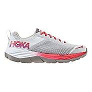 Womens Hoka One One Mach Running Shoe - White/Hibiscus 10.5