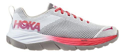 Womens Hoka One One Mach Running Shoe - White/Hibiscus 9