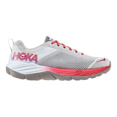 Womens Hoka One One Mach Running Shoe - White/Hibiscus 10