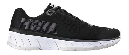 Mens Hoka One One Cavu Running Shoe - Black/White 9