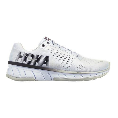 Womens Hoka One One Cavu Running Shoe - White/Black Pearl 8