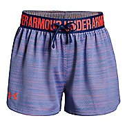 Under Armour Girls Play Up Novelty Unlined Shorts - Talc Blue YXL