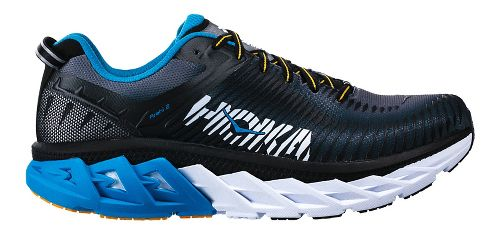 Mens Hoka One One Arahi 2 Running Shoe - Black/Blue 10