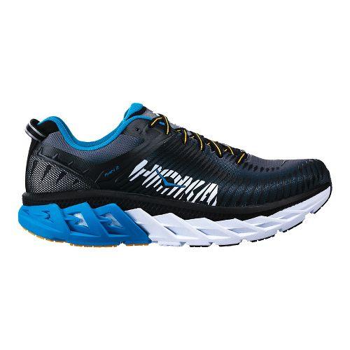 Mens Hoka One One Arahi 2 Running Shoe - Black/Blue 14