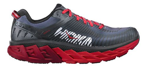 Mens Hoka One One Arahi 2 Running Shoe - Black/Red 10.5
