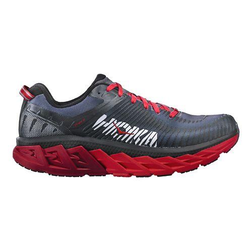 Mens Hoka One One Arahi 2 Running Shoe - Black/Red 7
