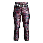 Under Armour Girls Heatgear Armour Novelty Capris Pants