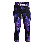 Under Armour Girls Heatgear Armour Novelty Capris Pants - Constellation Purple YM