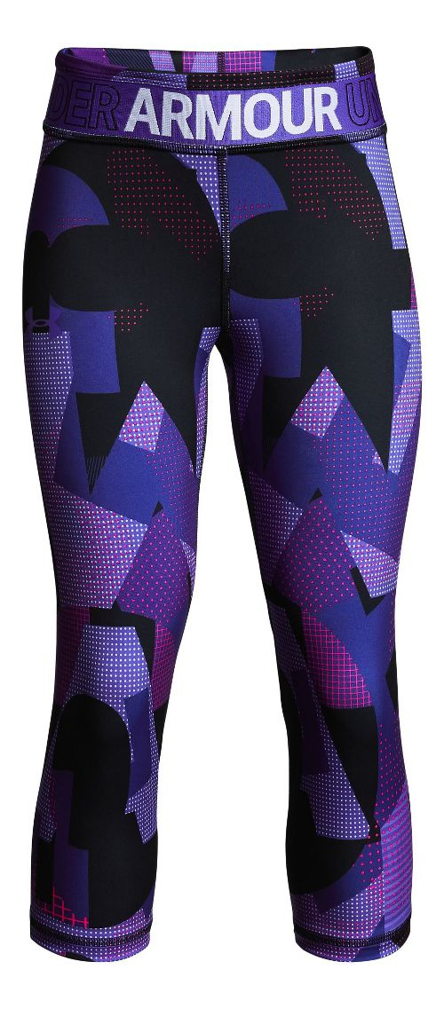 Under Armour Girls Heatgear Armour Novelty Capris Pants - Constellation Purple YL