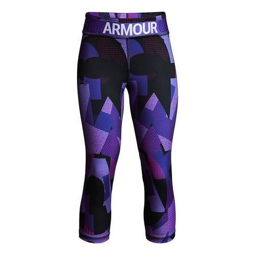 Under Armour Girls Heatgear Armour Novelty Capris Pants - Constellation Purple YS