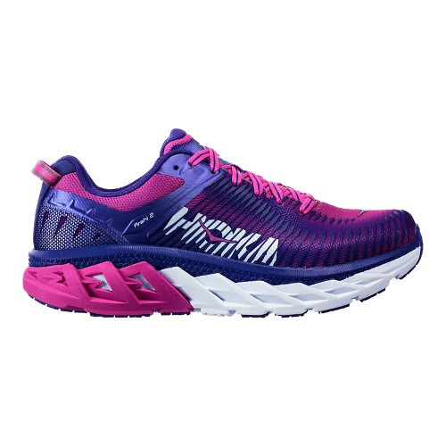 Womens Hoka One One Arahi 2 Running Shoe - Liberty/Fuchsia 10.5