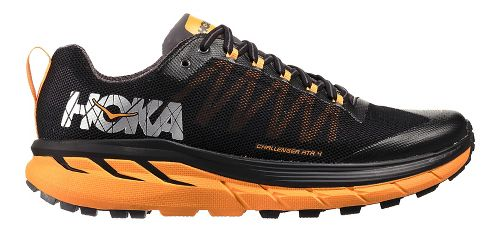 Mens Hoka One One Challenger ATR 4 Trail Running Shoe - Black/Kumquat 9.5