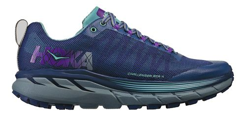 Womens Hoka One One Challenger ATR 4 Trail Running Shoe - Indigo/Aqua 7