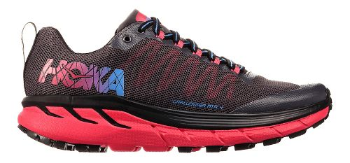Womens Hoka One One Challenger ATR 4 Trail Running Shoe - Black/Azalea 10