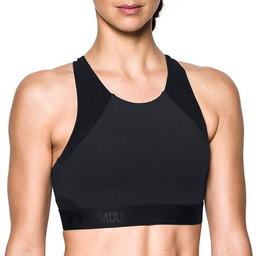 Womens Under Armour Breathelux Fashion Mid Sports Bras - Black XL
