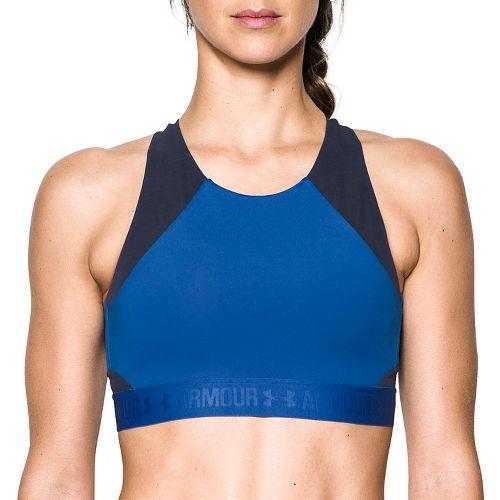 Womens Under Armour Breathelux Fashion Mid Sports Bras - Lapis Blue L