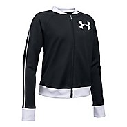 Under Armour Track Casual Jackets - Black/White YM