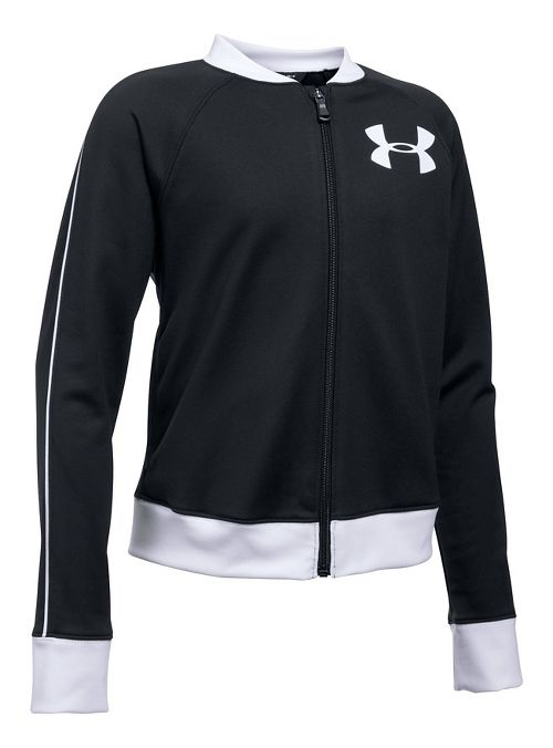 Under Armour Track Casual Jackets - Black/White YL