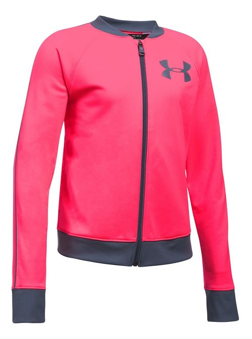 Under Armour Track Casual Jackets - Pink/Grey YXS