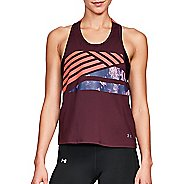 Womens Under Armour Sport 2.0 Graphic Swing Sleeveless & Tank Tops Technical Tops - Raisin ...