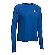 Womens Under Armour Graphic Triblend Long Sleeve Technical Tops - Lapis Blue/Navy L