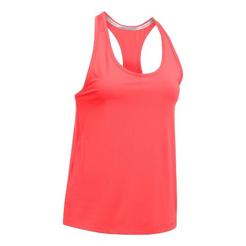 Womens Under Armour Fly By Classic Racerback Short Sleeve Technical Tops - Marathon Red XL